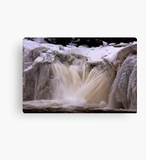 Freezing Torrent Canvas Print