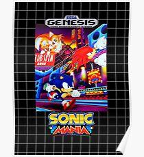 Sonic Mania Game Sega Genesis American Poster