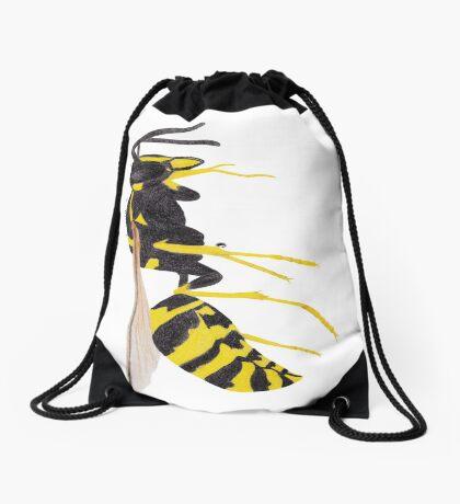 Paper Wasp Drawstring Bag