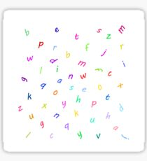 Dancing letters party time Sticker