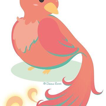 Kawaii fantasy animals - Phoenix by SilveryDreams