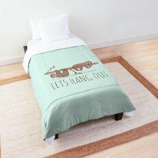 Lets Hang Out Sleepy Sloths Drawing Comforter