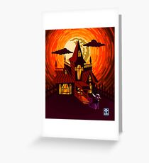 Haunted House WITHOUT WORDS Greeting Card
