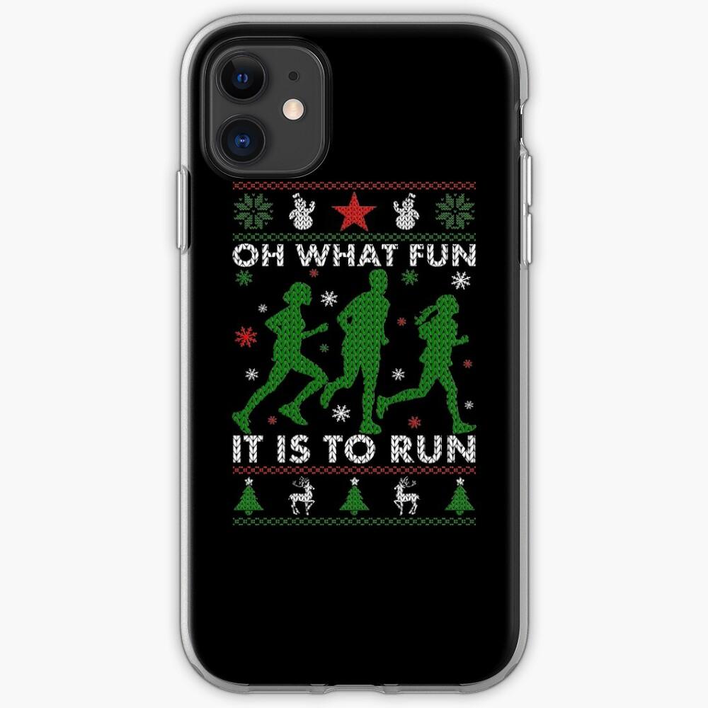 Hässliches Weihnachtst-stück laufen iPhone-Hülle & Cover