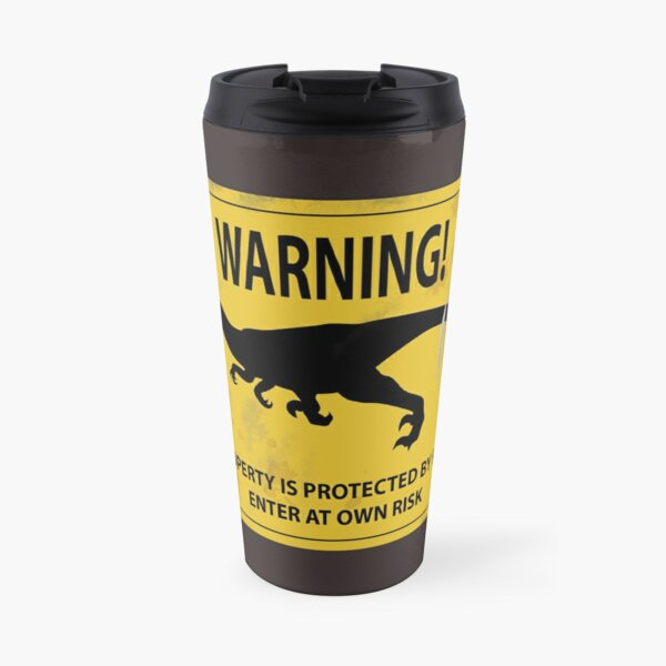 Raptor Warning Sign Travel Mug