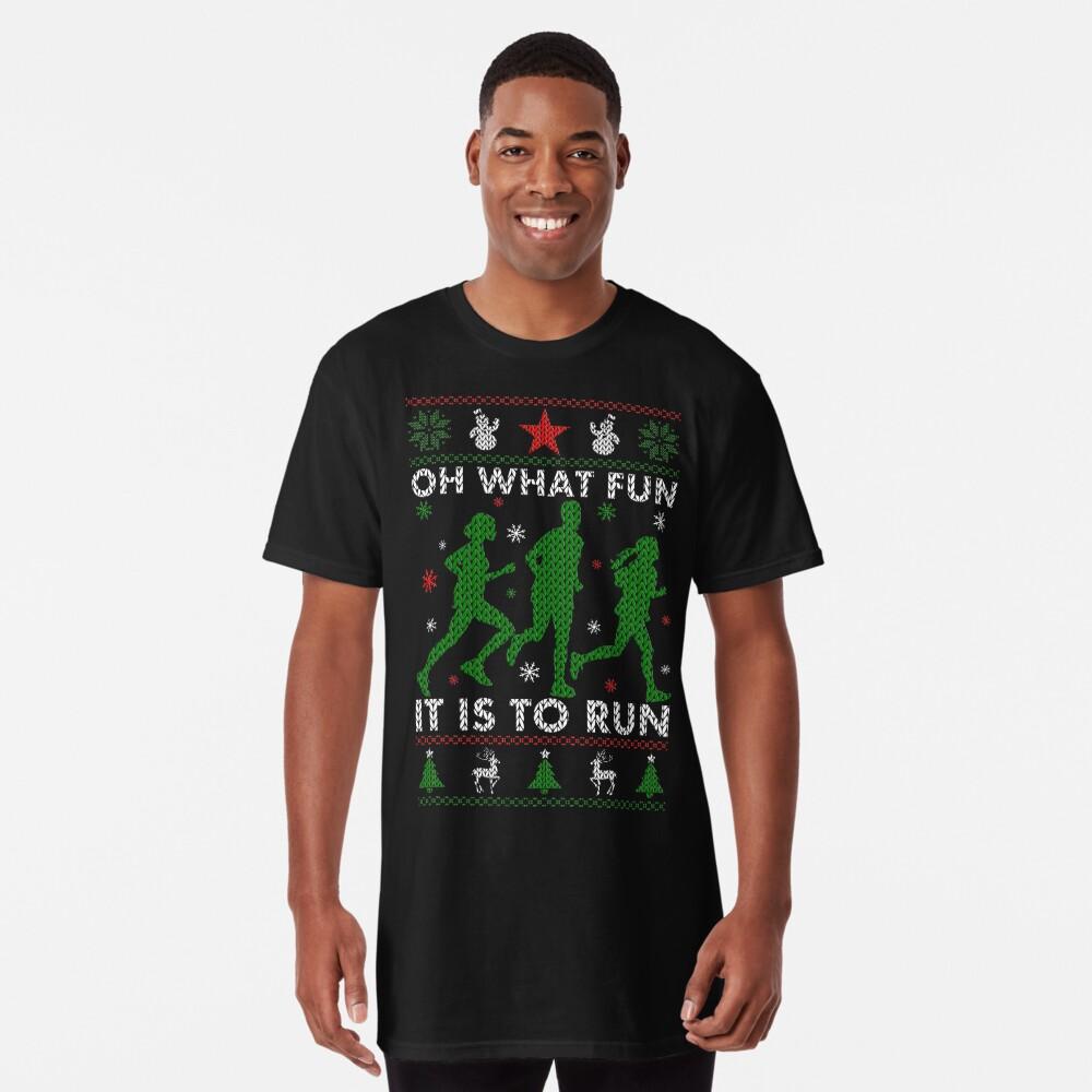 Hässliches Weihnachtst-stück laufen Longshirt