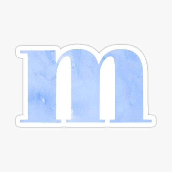 m - blue marble Sticker