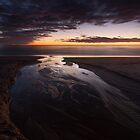 sunrise reflections, balmedie beach by codaimages