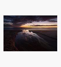 sunrise reflections, balmedie beach Photographic Print