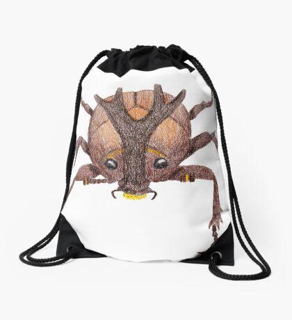 Japanese Rrhinoceros Beetle Drawstring Bag