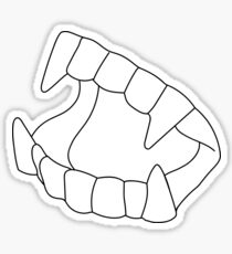 Vampire teeth Sticker