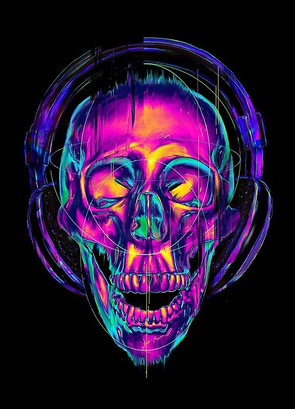 Quot Trippy Skull Quot By Nicebleed Redbubble