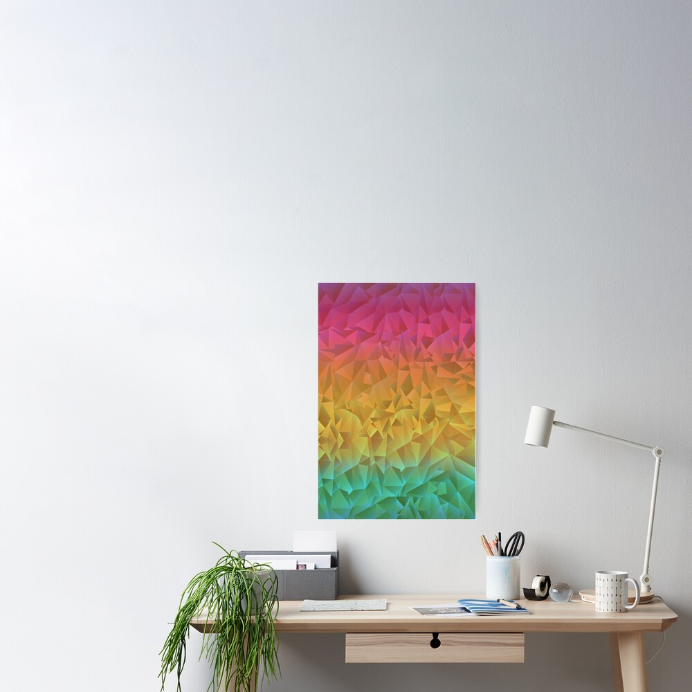 Rainbow Crystal Shatter Poster