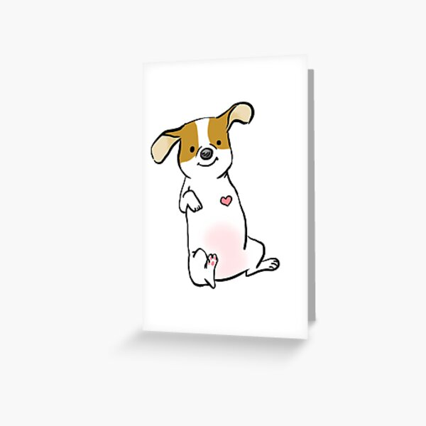 Three Legged Pup, Tripod Love Greeting Card