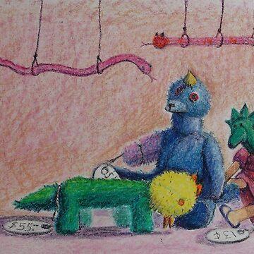 Gracie's Animals by NANCYMAUERMAN