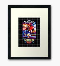 Sonic Mania Game Sega Genesis Japanese Framed Print