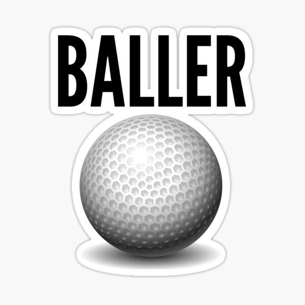 Golf Baller Gift Idea Sticker