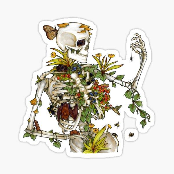 Knochen und Botanik Sticker