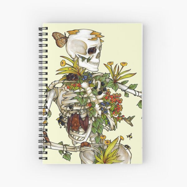 Bones and Botany Spiral Notebook