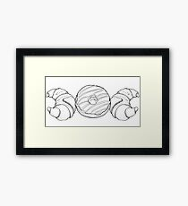 Triple Moon Carb Goddess - Wiccan Symbol Framed Print