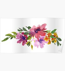Floral watercolor Poster