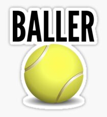Tennis Baller Sticker Gift Idea Sticker