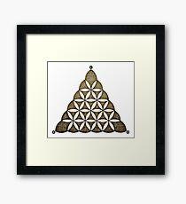 Flower Of Llife, Sacred Geometry, Crop Circle, Triangle Framed Print