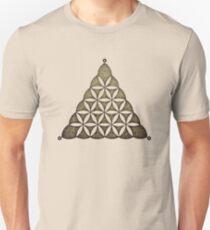 Flower Of Llife, Sacred Geometry, Crop Circle, Triangle T-Shirt
