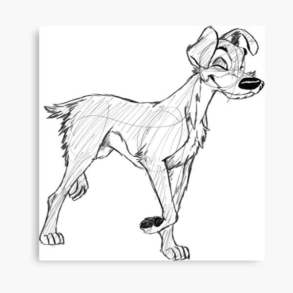 Tramp Sketch Canvas Print By Blueskywolf Redbubble