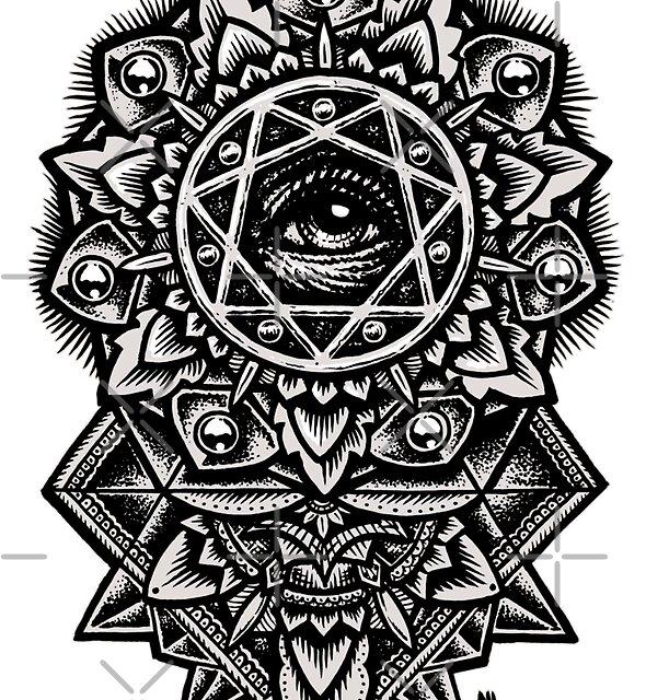 Eye of God Flower Mandala by Roberto Jaras Lira