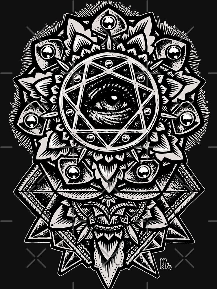 Eye of God Flower Mandala by RobertoJL
