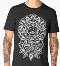 Eye of God Flower Mandala Men's Premium T-Shirt
