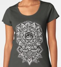 Eye of God Flower Mandala Women's Premium T-Shirt