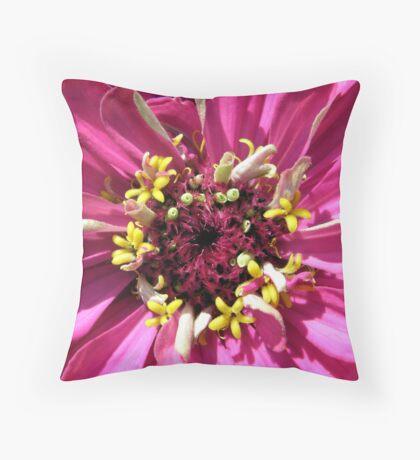 Macrozinnia Throw Pillow