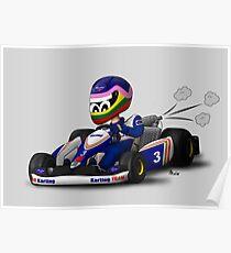 FW-97 Karting Cartoon #3 Poster
