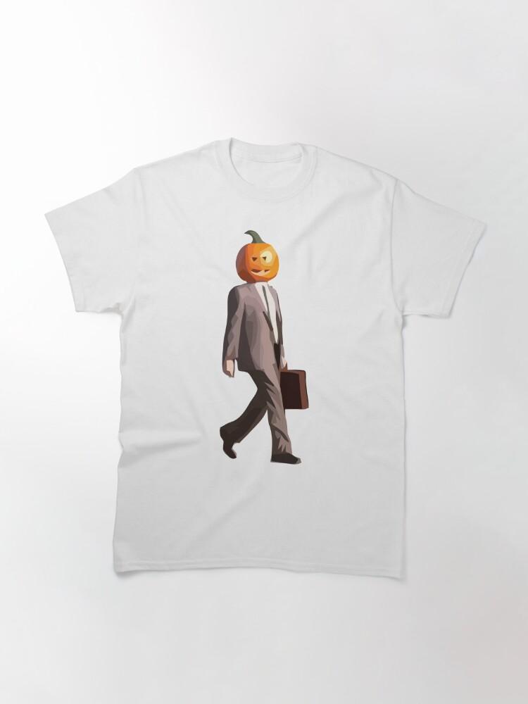 Alternate view of Pumpkin Head Dwight Classic T-Shirt