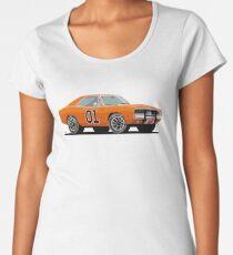 "1969 Dodge Charger R/T · ""General Lee"" · The Dukes of Hazzard TV Show  Women's Premium T-Shirt"
