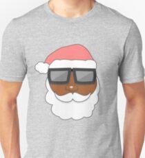Funny Black Santa Claus Sunglasses Apparel Christmas T Shirt T-Shirt