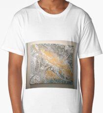 White & gold Long T-Shirt