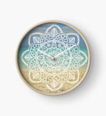 Beach Mandala Clock