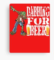 Funny Halloween Dabbing Zombie Beer Lovers Costume Collection - Dabbing For Beer Zombie Edition Canvas Print