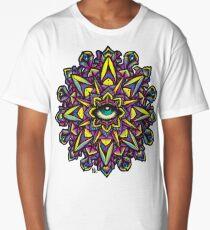Dharma Wheel Neon Mandala Long T-Shirt