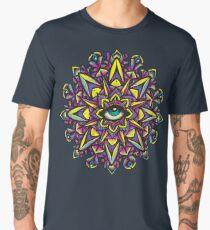 Dharma Wheel Neon Mandala Men's Premium T-Shirt