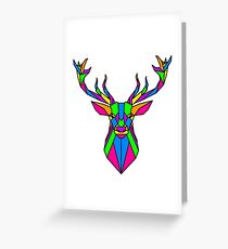 Coloured Geometric Stag Greeting Card