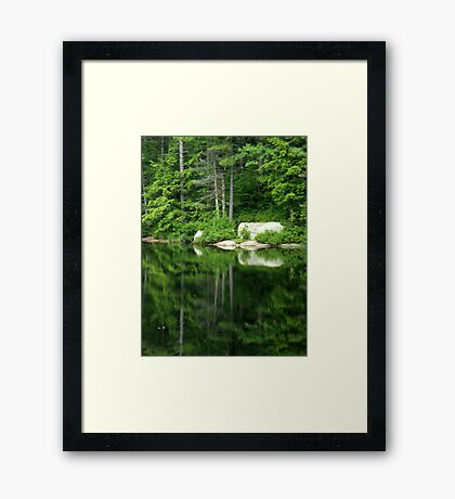 The Water Mirror Framed Print