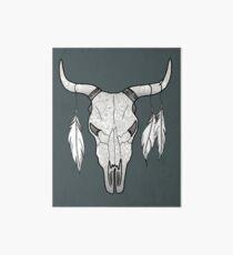 Decorated Bull Skull Mandala Pattern Art Board
