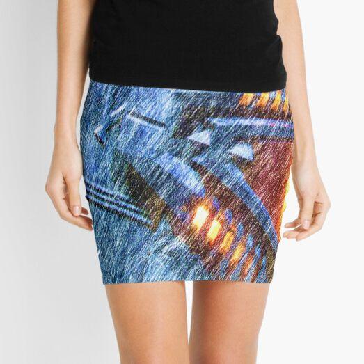 Chevron Mini Skirt