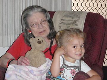 My Mom and My Granddaughter by Pamela Hubbard