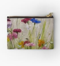 Loved • Floral Painting by Rebecca Finch Studio Pouch