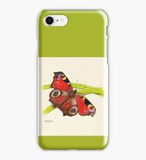 Tagpfauenauge Schmetterling iPhone Case/Skin